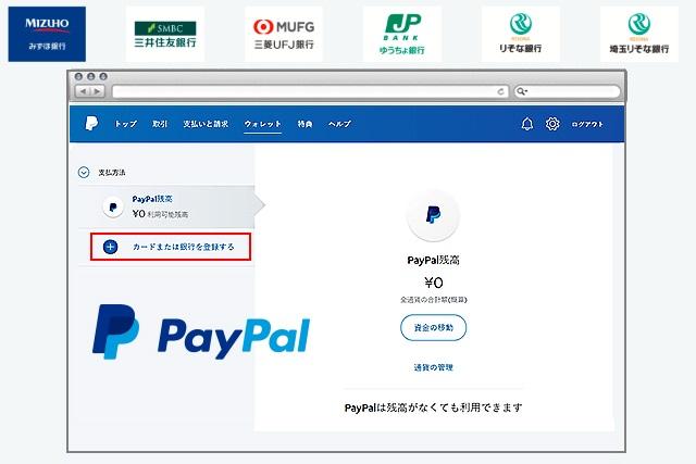 ②PayPal(ペイパル)に入金しよう