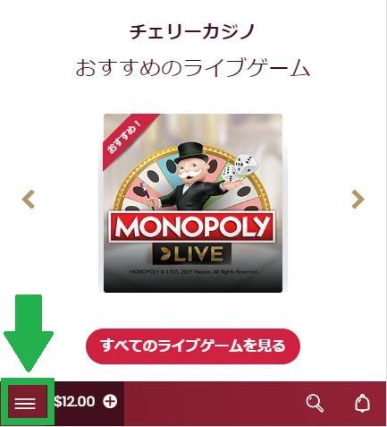 チェリーカジノにログイン(バンドルカードで入金できるか検証)