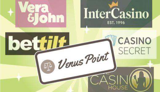 VenusPoint(ヴィーナスポイント)で入金できるオンラインカジノ【5選】