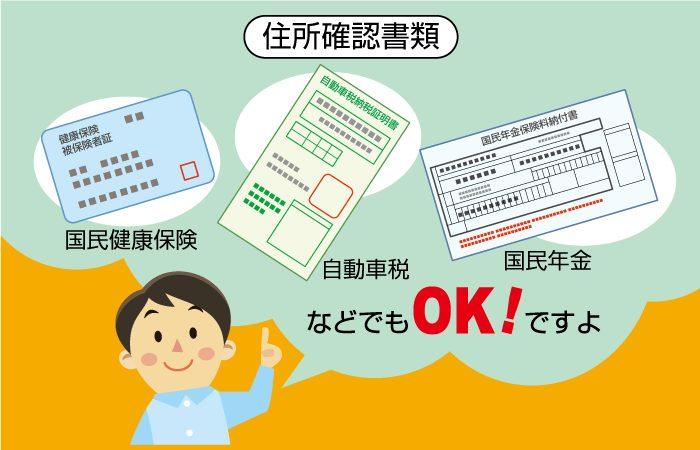 エコペイズに提出できる証明書類