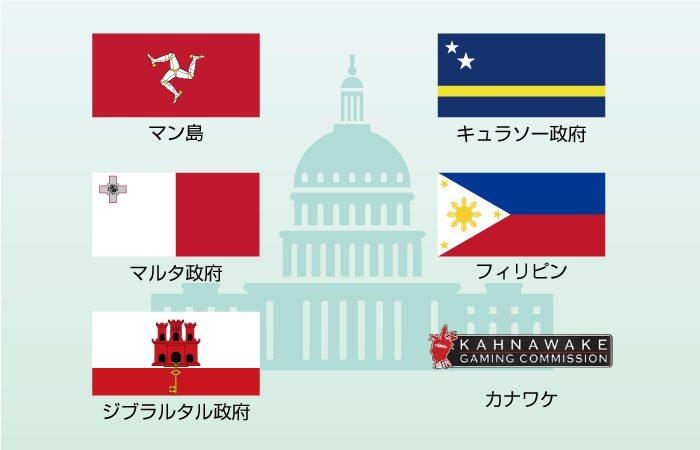 【オンラインカジノの仕組み】オンラインカジノにライセンスを発行している国
