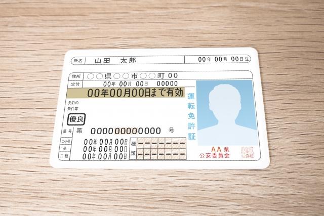 アカウント登録情報は身分証明書と同じ