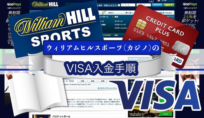 ウィリアムヒルスポーツ(カジノ)のVISA入金手順