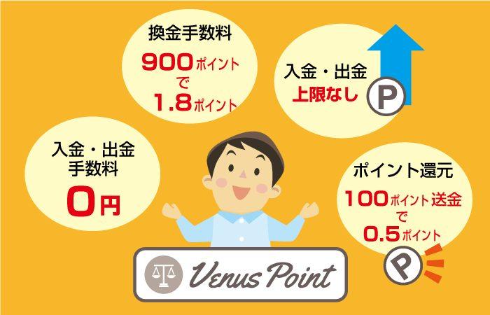 VenusPoint(ヴィーナスポイント)のメリット
