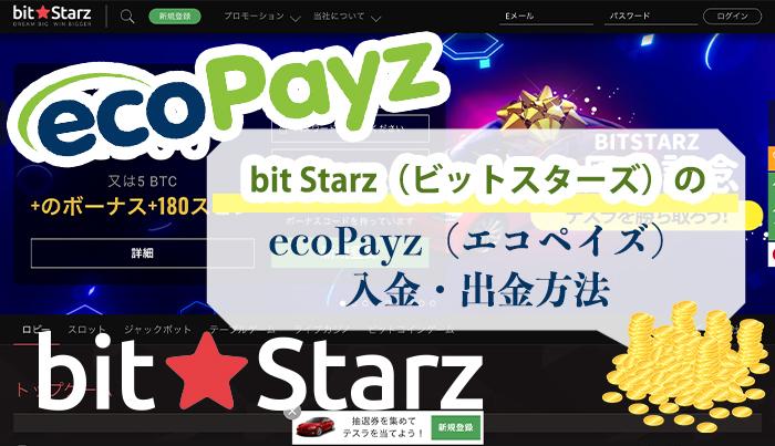 bit Starz(ビットスターズ)のecoPayz(エコペイズ)入金・出金方法