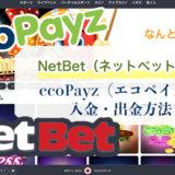 NetBet(ネットベット)のecoPayz(エコペイズ)入金・出金方法