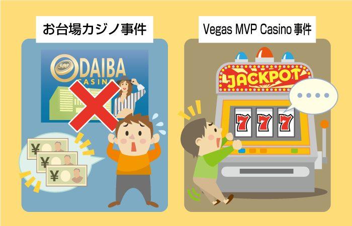 お台場カジノ事件などの悪質カジノ