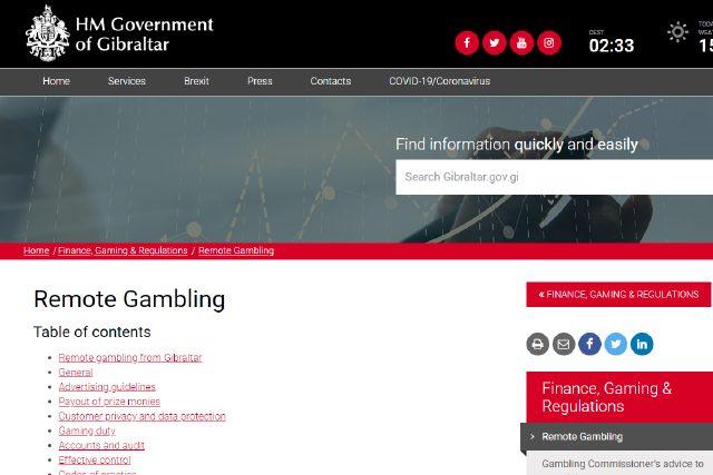 ジブラルタルのカジノライセンス