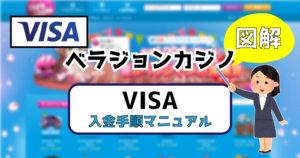 ベラジョンカジノにVISAカード入金する