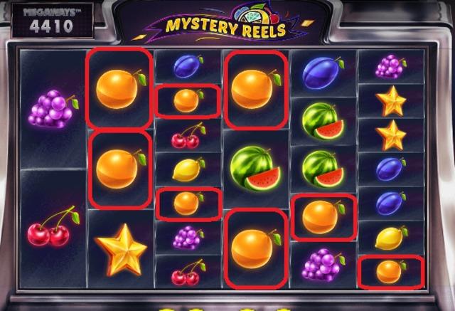 Mystery Reels Mega waysの配当非成立
