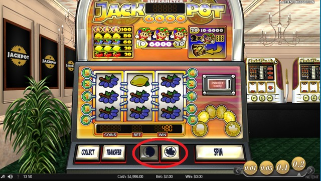 還元率が高いJackpot6000を無料モードでプレイ