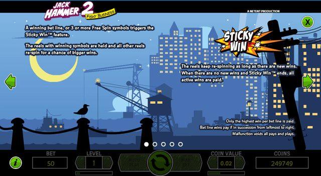 Jack Hammer2(ジャックハマー2)のスティッキーウィン