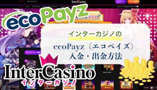 インターカジノのecoPayz(エコペイズ)入金・出金方法