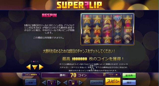 Super Flip(スーパーフリップ)のリスピン