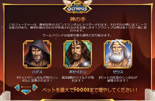 Rise of Olympus(ライズ・オブ・オリンポス)の神の手