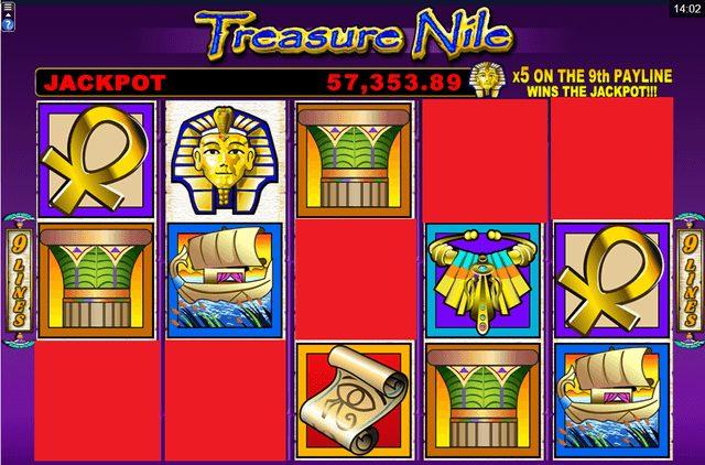 Treasure Nile(トレジャー・ナイル)のジャックポット条件