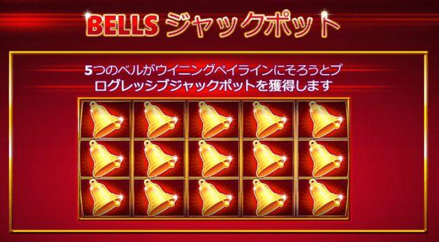 Jackpot Bells(ジャックポット・ベルズ)のジャックポット条件