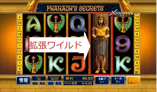 Pharaoh's Secret(ファラオの秘密)のワイルドシンボル