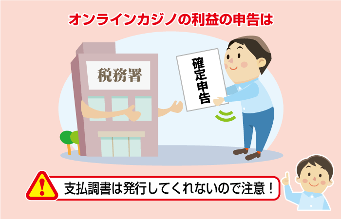 オンラインカジノの税金の確定申告方法