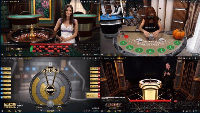 Evolution Gamingのライブゲーム