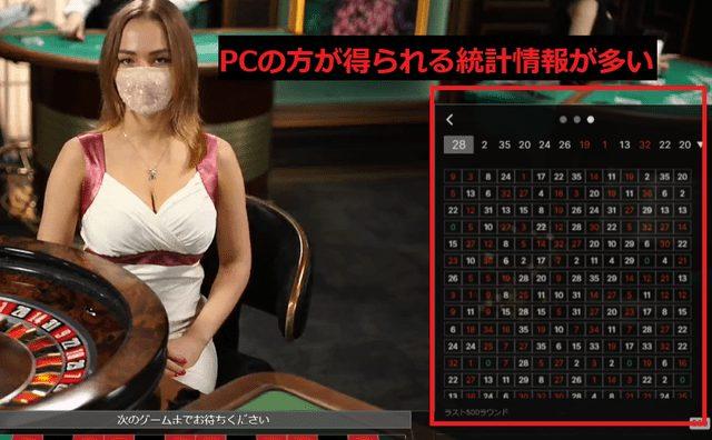 パソコンでのベラジョンカジノプレイ画面